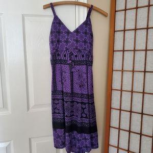 Size M/L 100% Cotton Ark Imports Purple Dress